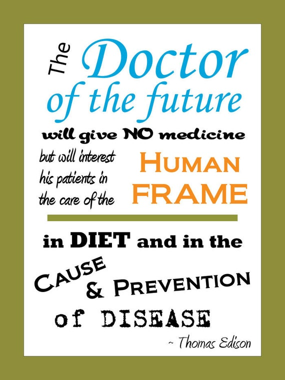 Edison Doctor Of The Future Quote Poster 18 X 24 Etsy