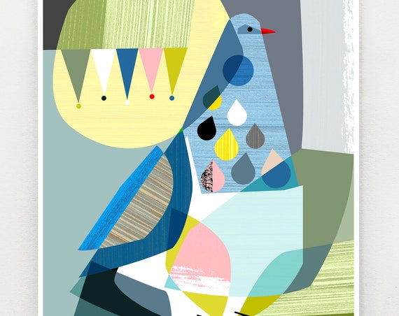 Mr Kereru print, NZA61