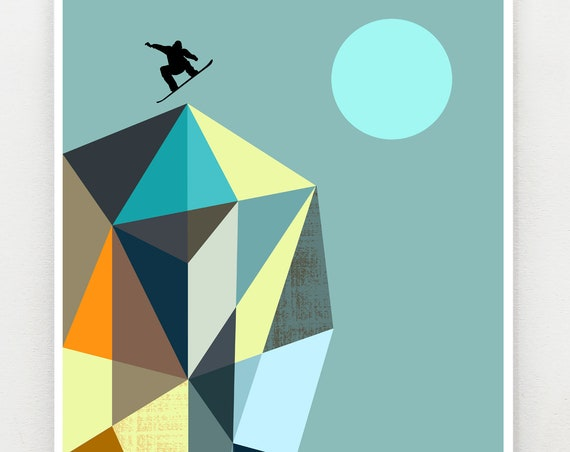 Snowboarder print, GEO12