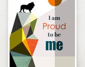 I am proud to be me, print, GEO82