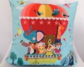 Balloon Friends, cushion cover