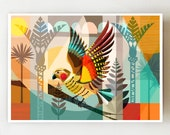 Horizontal, New Zealand, Kea, print, NZA69