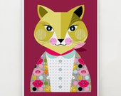 Lady cat, print, DES50
