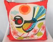 Cheeky Fantail, cushion cover