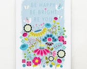 Be Happy, Be Bright, print, Ellen Giggenbach, DES49