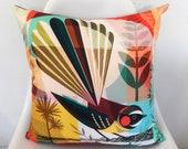 New Zealand Piwakawaka, cushion cover
