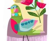 LATE SPRING, bird, Ellen Giggenbach, print, DES34