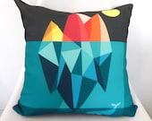 The whale and Iceberg, cushion cover
