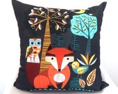 Woodland friends, cushion cover