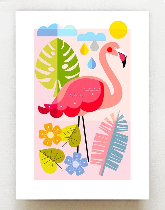 Flamingo print, DES62