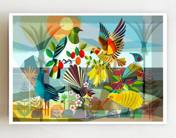 Landscape, New Zealand, Flora & Fauna, print, NZA135