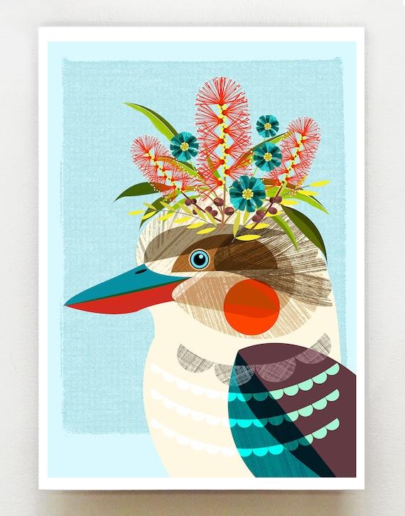 Australian Kookaburra, print, DES75