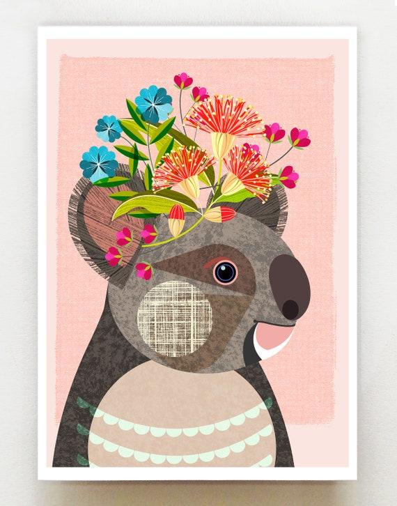 Australian Koala, print, DES72