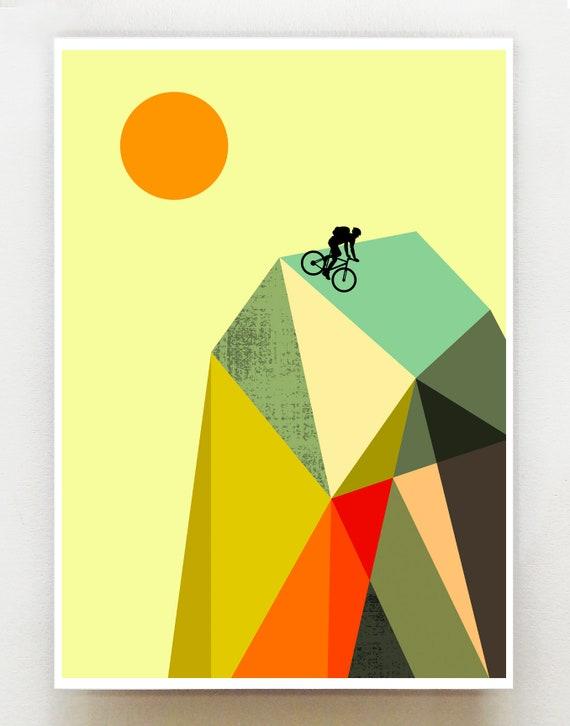Mountain biker, print, GEO50