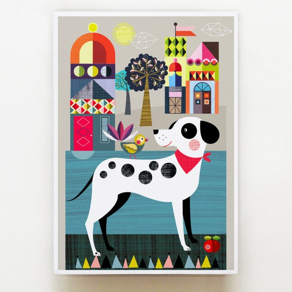 Pablo, Dalmation dog, print, DES54