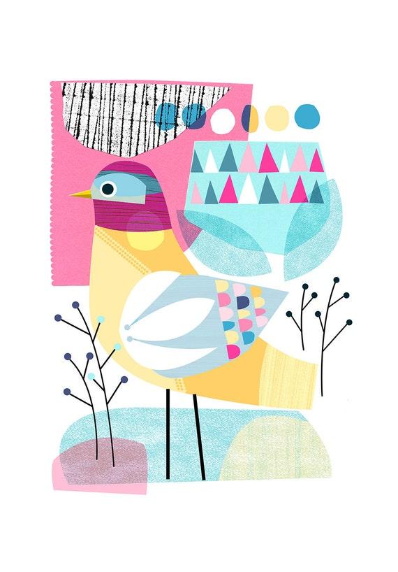 Early Winter, bird, Ellen Giggenbach, print, DES46