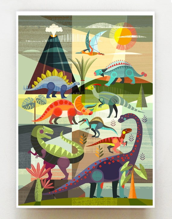 Dinosaurs, print, DES79