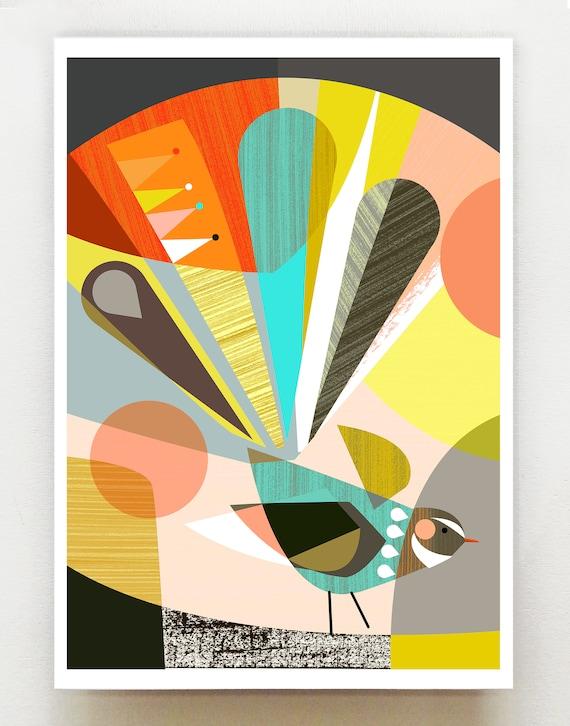 New Zealand Fantail print, NZA6