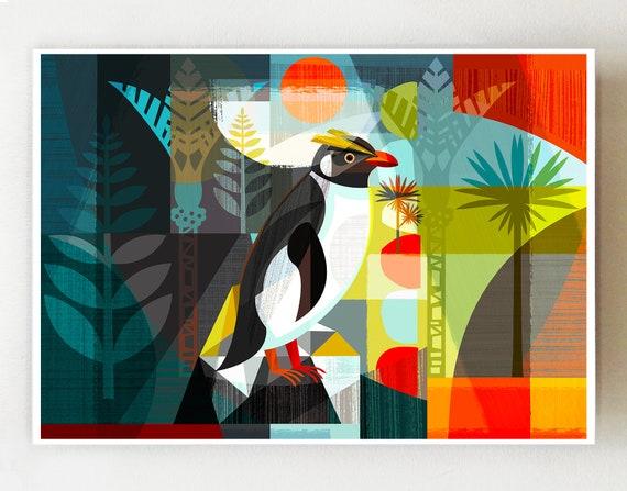 Landscape Penguin, print EGA62