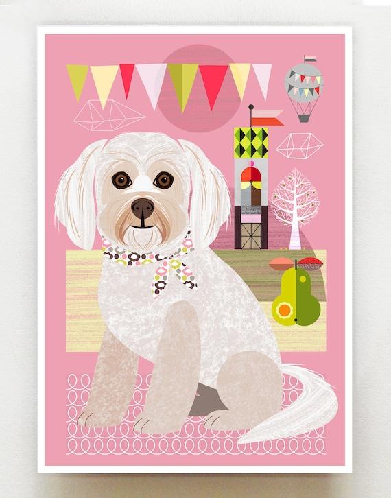 Minnie, little dog print, DES23