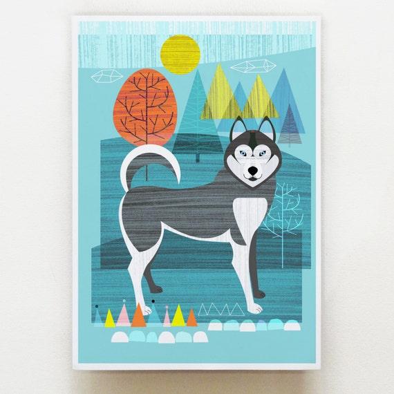 Husky dog print, DES4