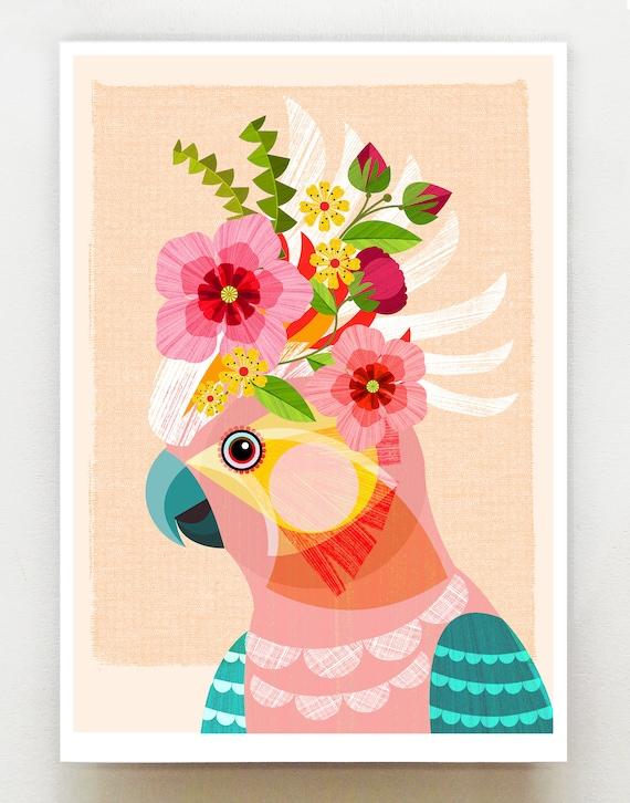 Australian Cockatoo, print, DES73