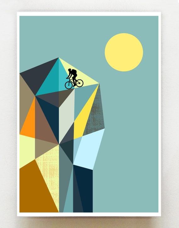 Mountain biker 2, print, GEO85