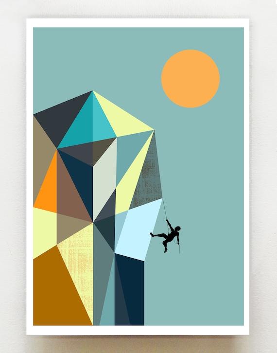 Mountain climber 2, print, GEO84