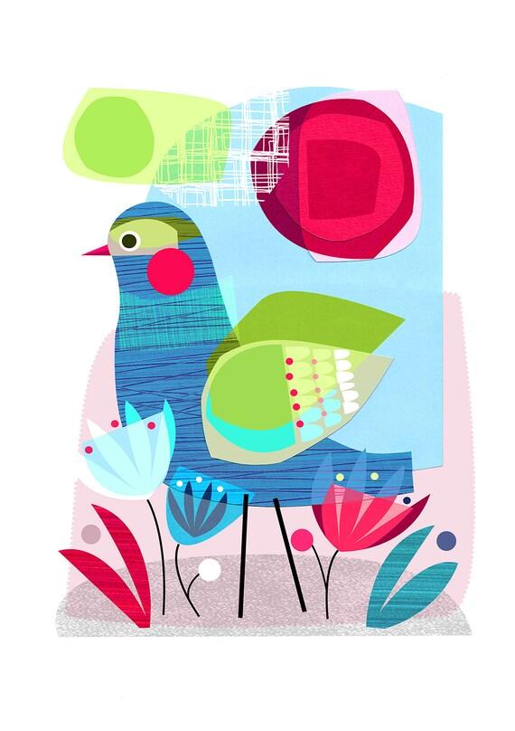 Summer Morning, bird, Ellen Giggenbach, print, DES24