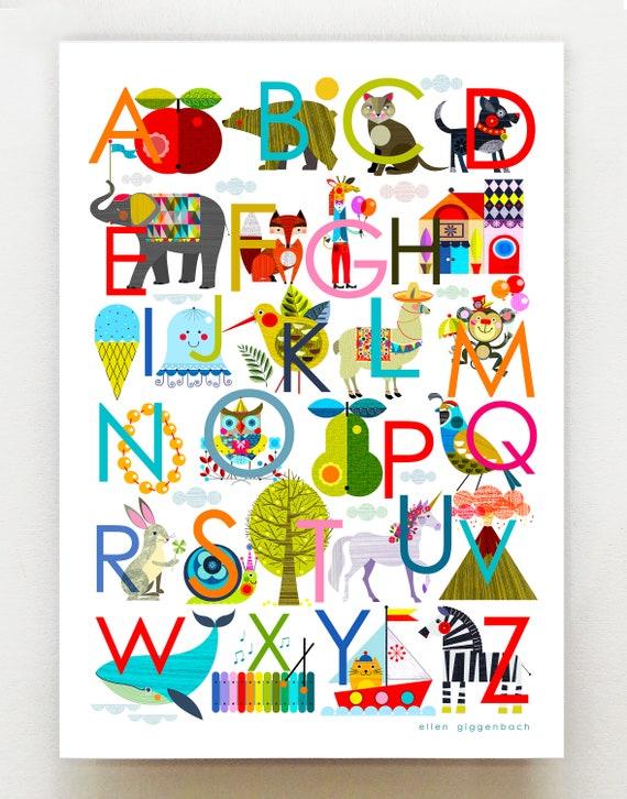 Ellen's Alphabet print, DES19