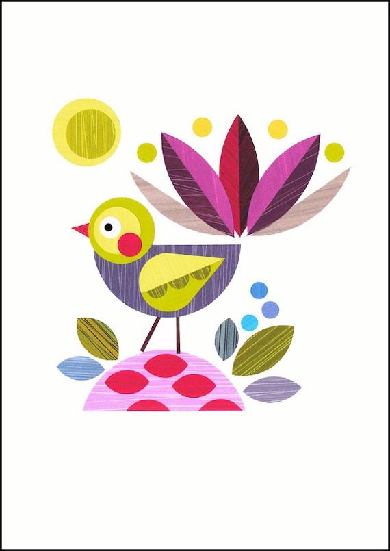 Piwakakwaka, bird, print, NZA43