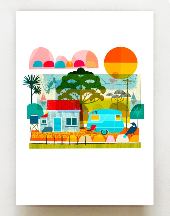 Kiwi Summer, print, NZA90