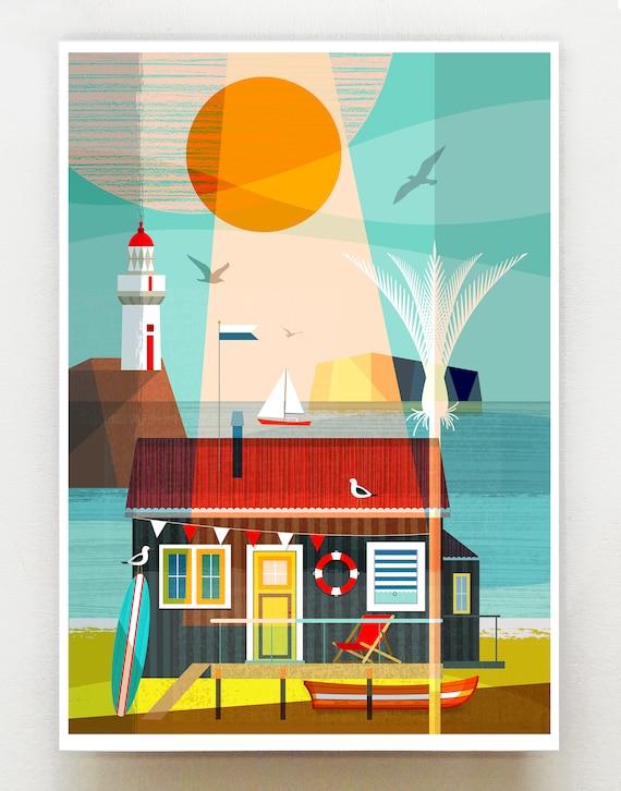 New Zealand beach batch, print, NZA139