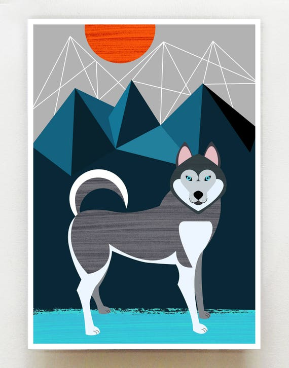 Bold Husky print, GEO52