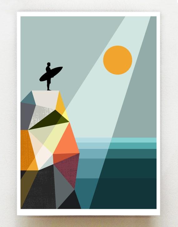 Surfer print, GEO81
