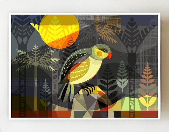 New Zealand Kakapo print, NZ77