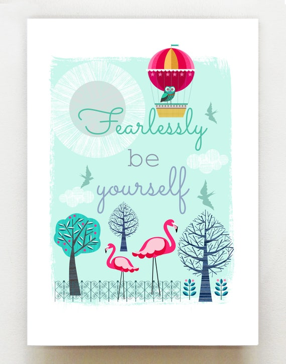Fearlessly be yourself print, DES26