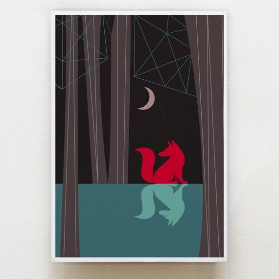 Woodland fox, Art by Ellen Giggenbach, GEO28