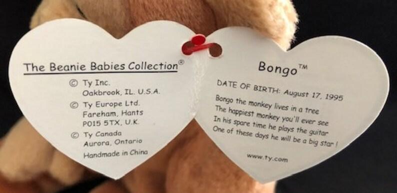 Beanie Baby Bongo Rare Retired 1995