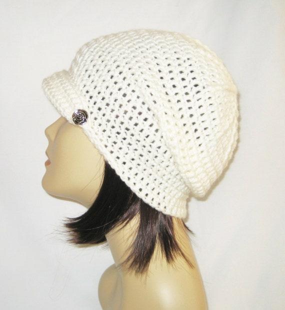 volteado de gacho de ala gorrita tejida sombrero casquillo | Etsy