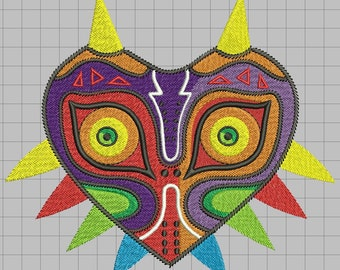 Zelda Machine Embroidery design - Majora's Mask