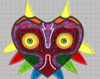Zelda Machine Embroidery Applique Design - Majora's Mask 8x8
