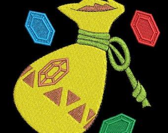 Legend of Zelda Link's Wallet Machine Embroidery design 4x4