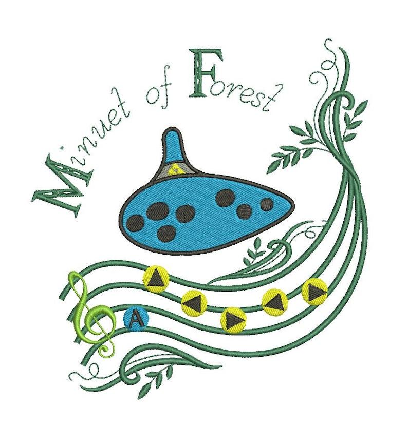 Legend of Zelda Ocarina Minuet of Forest Embroidery Design