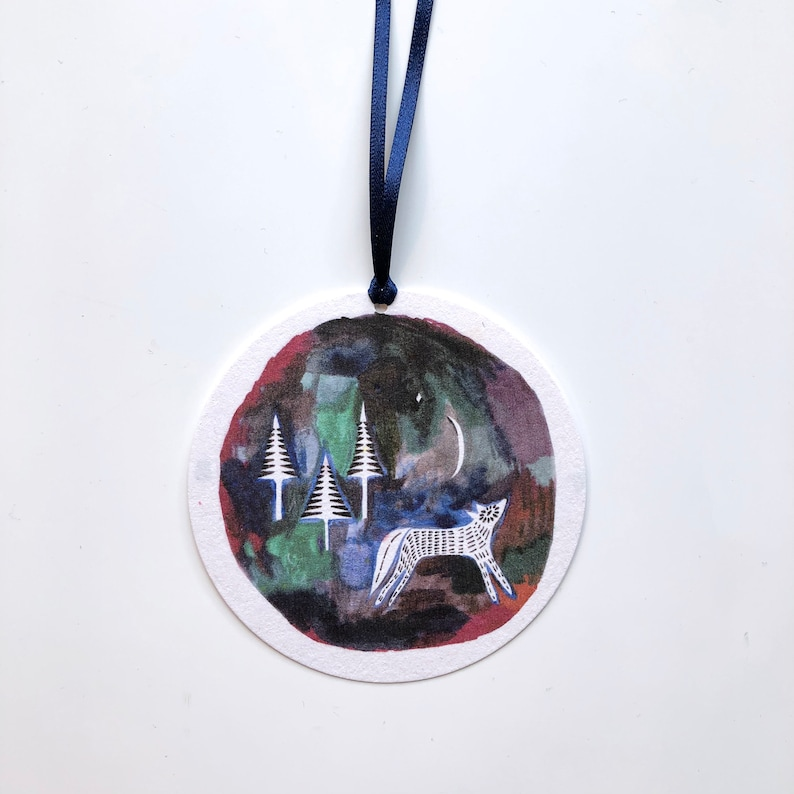 Wolf in the Forest Gift Tags Set of 3