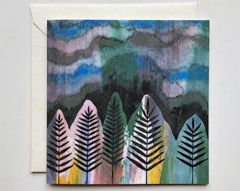 Trees in Shadow Mini Card