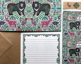 Letter Writing Set - Moon Bears