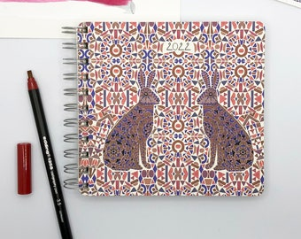 Reflecting Hares 2022 Diary - Mid Year / Yearly Format