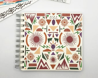Celestial Shapes 2022 Diary - Mid Year / Yearly Format