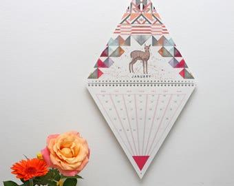 2018 Triangle Wall Calendar